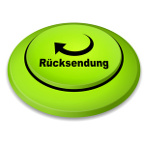 Rücksendung Retoure E-Commerce Button